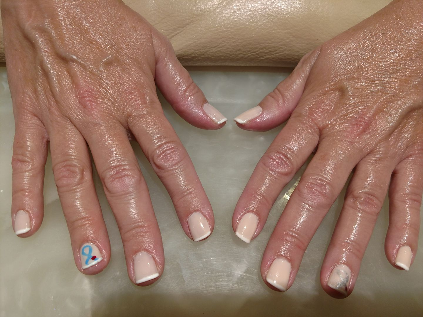 lady's fingers with painted nails